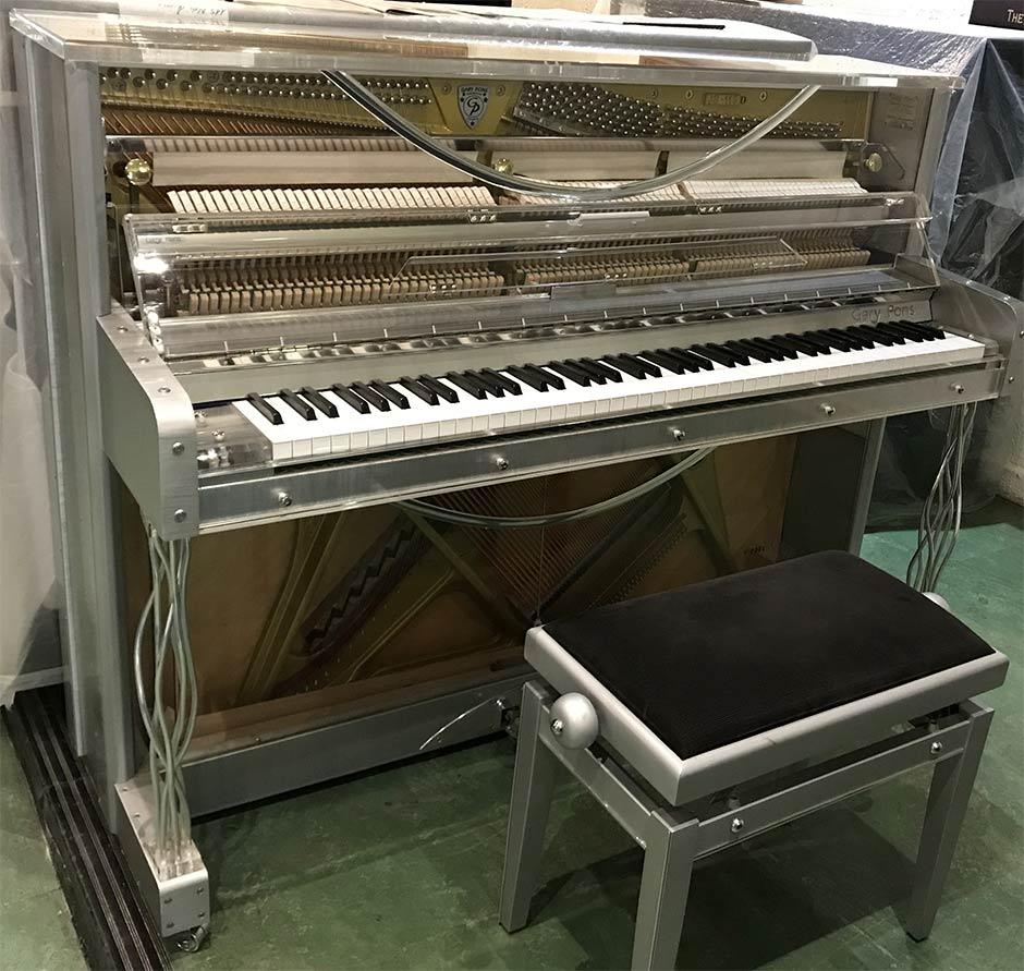 Piano droit transparent SY115 Gary Pons